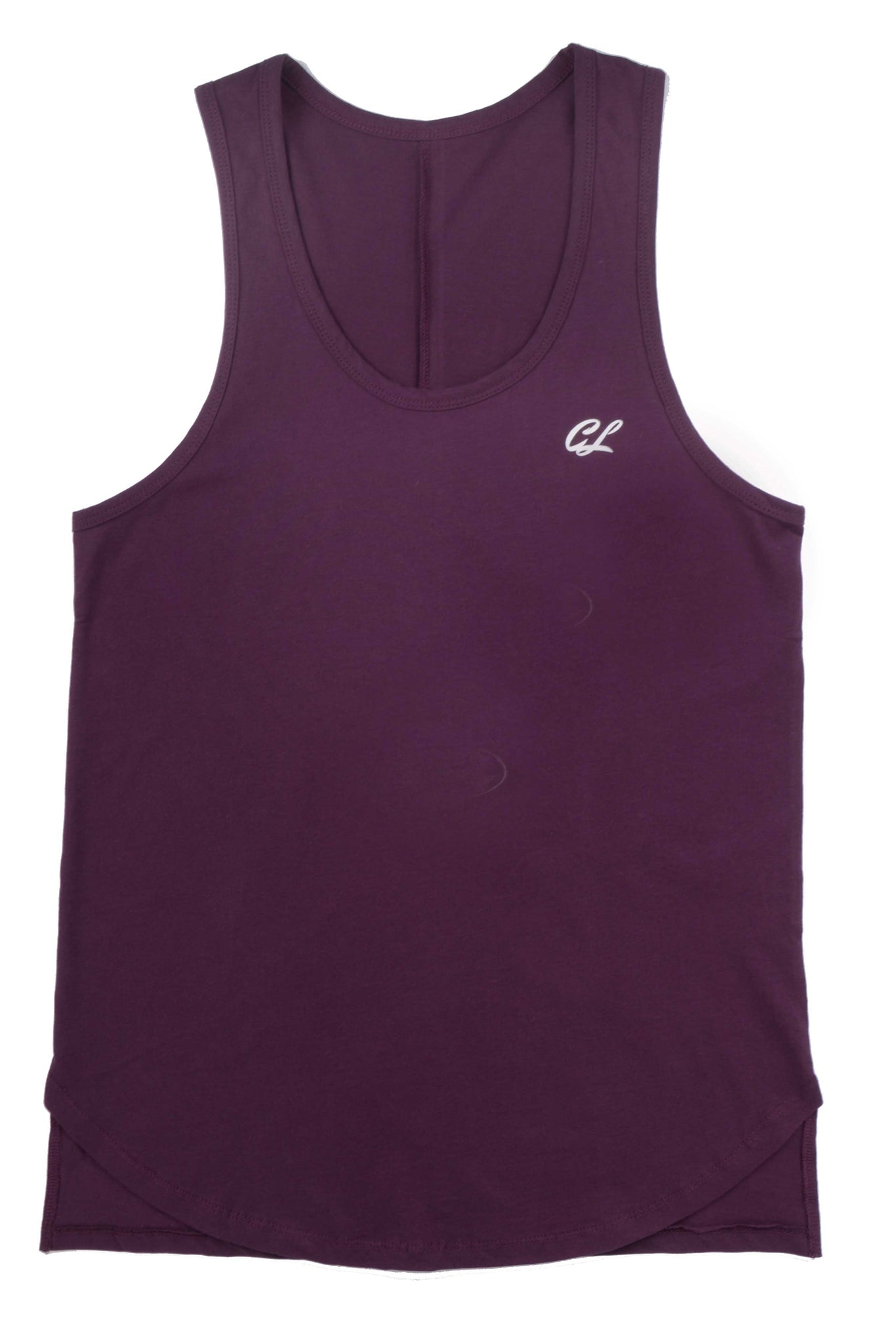 Scallop Front Tank Top - Eggplant