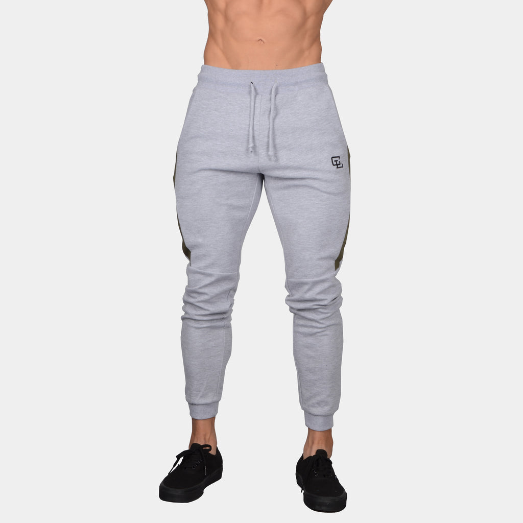 Interlock Tech Joggers // Heather Grey/Olive