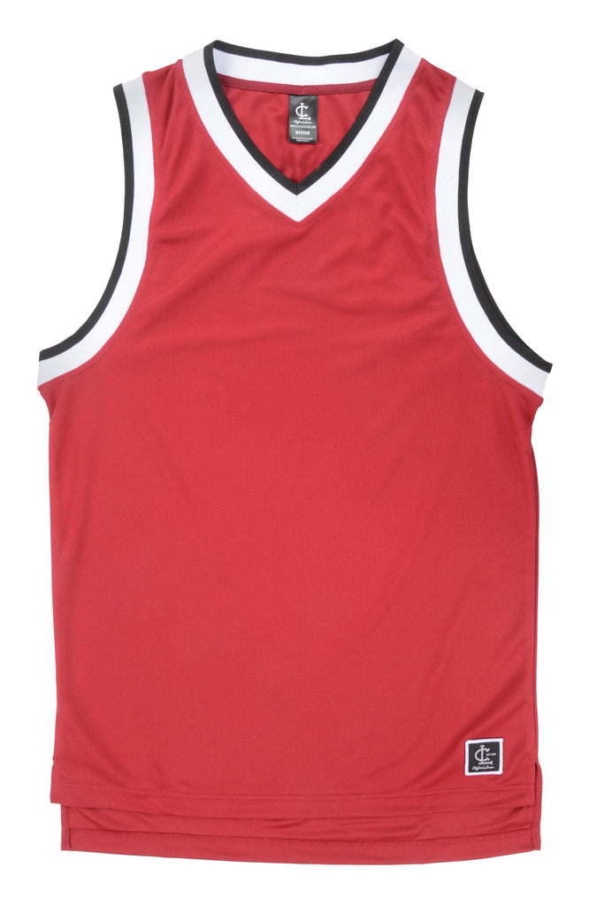 Basketball Jersey Top TWIN Pack// Black and Chicago Red