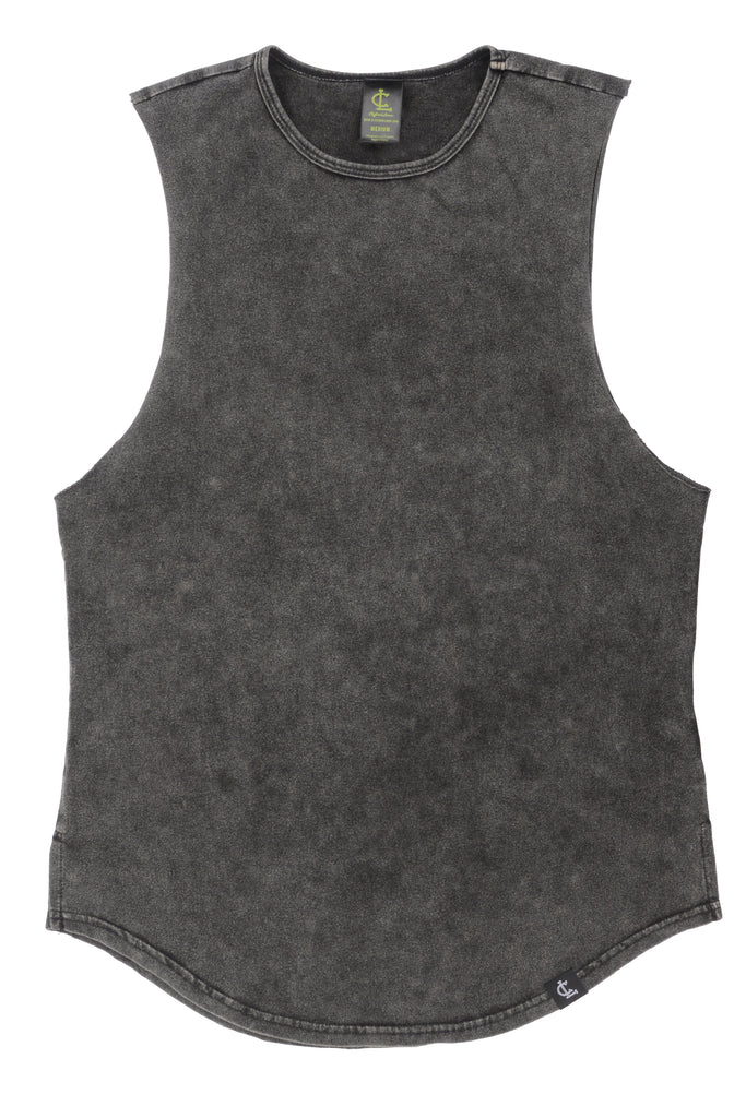 Mineral Wash Muscle Tank // Black
