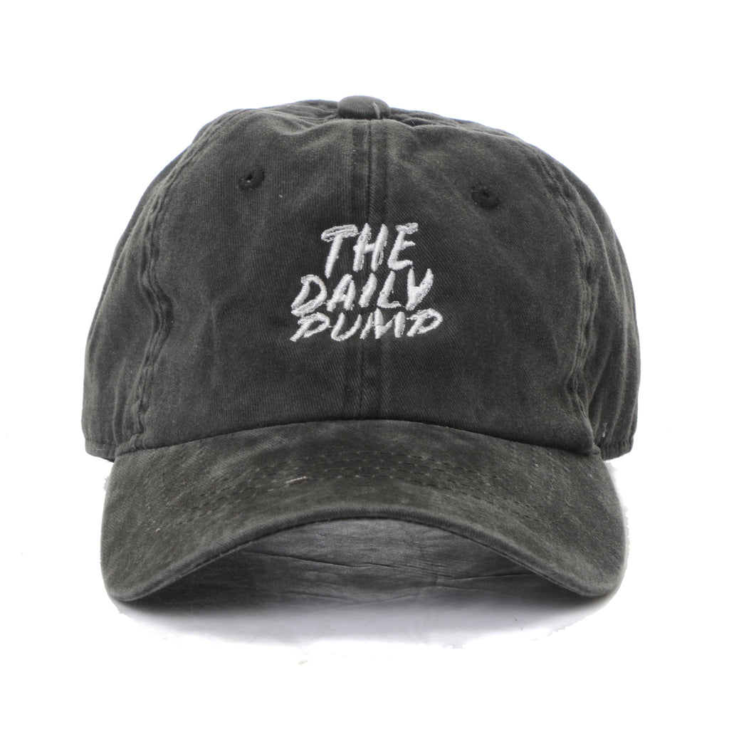 The Daily Pump Dad Hat - Charcoal Mineral Wash
