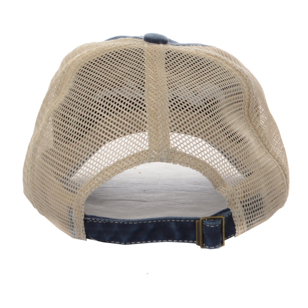 Clifford Lenox Curved Mesh Trucker Hat - Navy