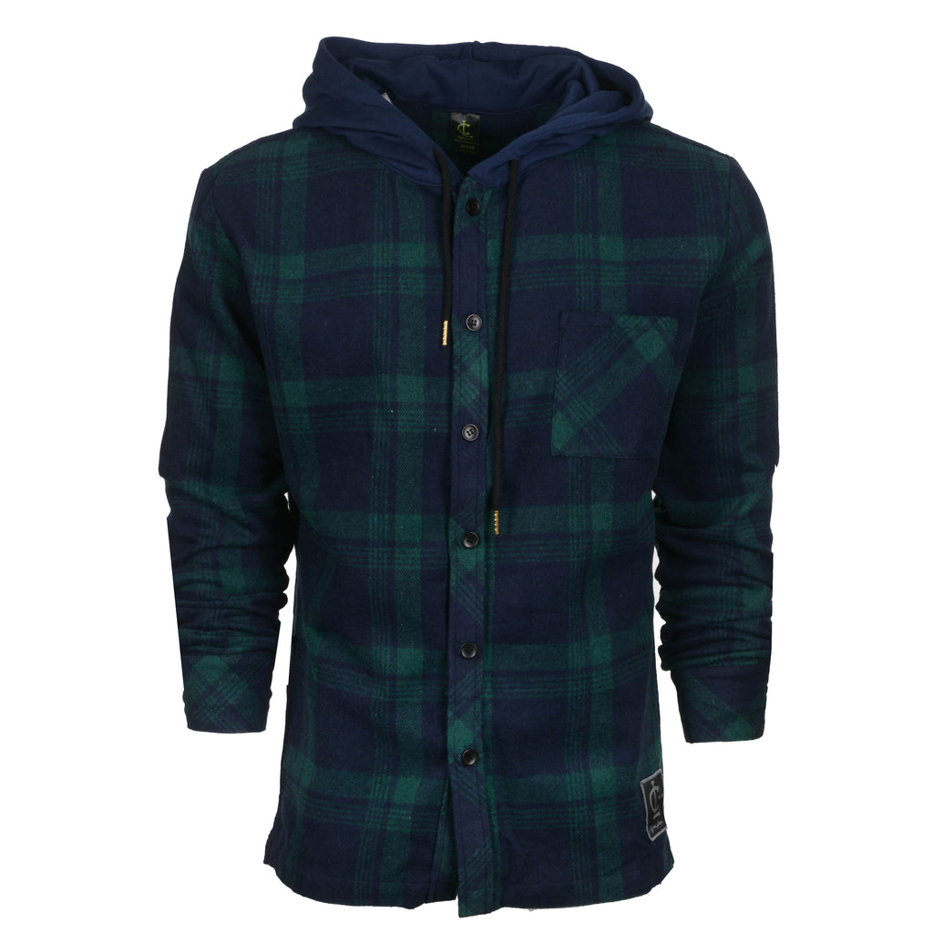 Flannel Hoodies // Green & Navy