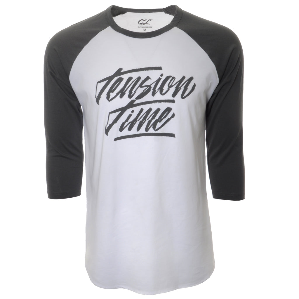 Time Under Tension 3/4 Baseball Shirts - White/Grey
