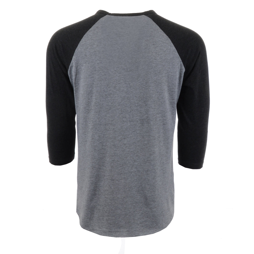 The Daily Pump 3/4 Baseball Shirts - Grey/Black