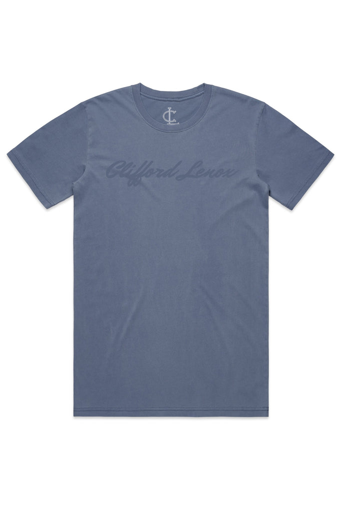 Clifford Lenox Faded Tee - Blue
