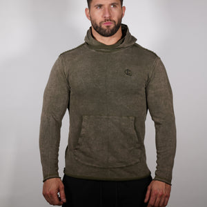 Raw Edge Training Hoodie - Vintage Olive