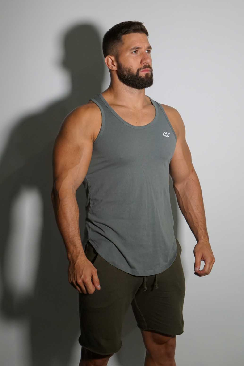 CL Logo Tank Top - Athletic Grey