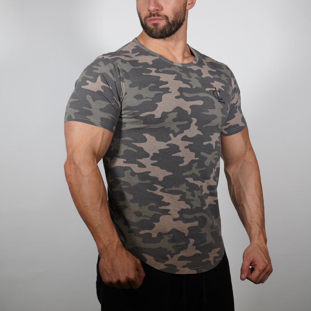 CL Scallop Tee - Camo Green