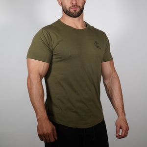 CL Scallop Tee - Olive