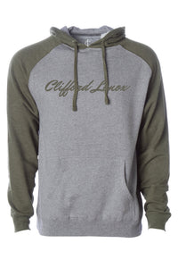 Two-Tone Hoodie - Olive/Heather Grey