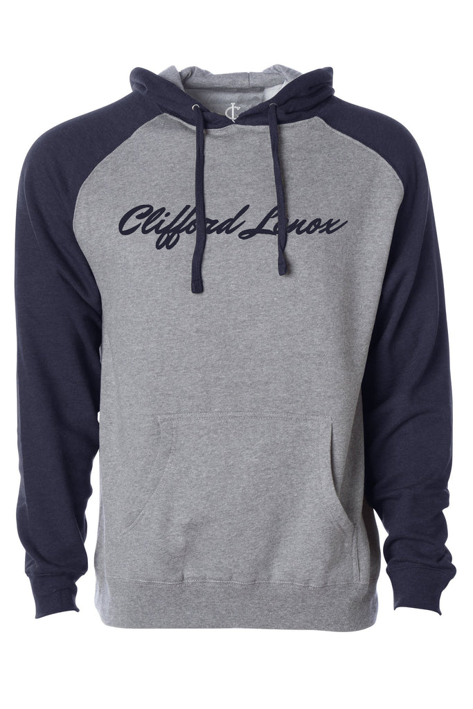 Two-Tone Hoodie - Navy/Heather Grey