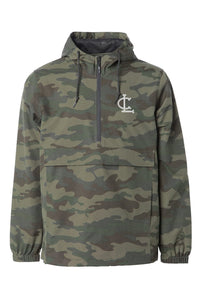 Waterproof Anorak Windbreaker Jacket - Camo Green