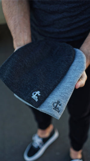 CL Tight-Knit Beanie - Charcoal