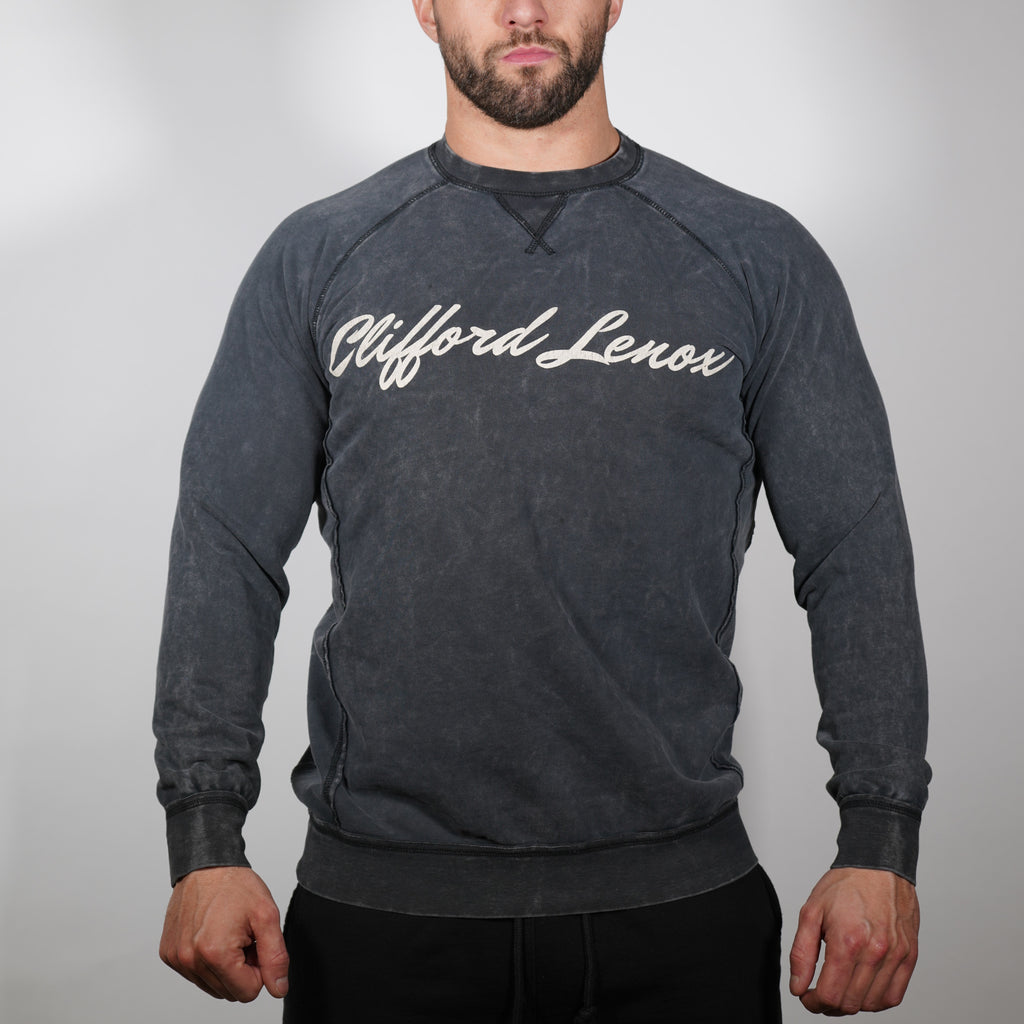 Clifford Lenox Crewneck Sweatshirt TWIN Pack// Vintage Black and Vintage Blue