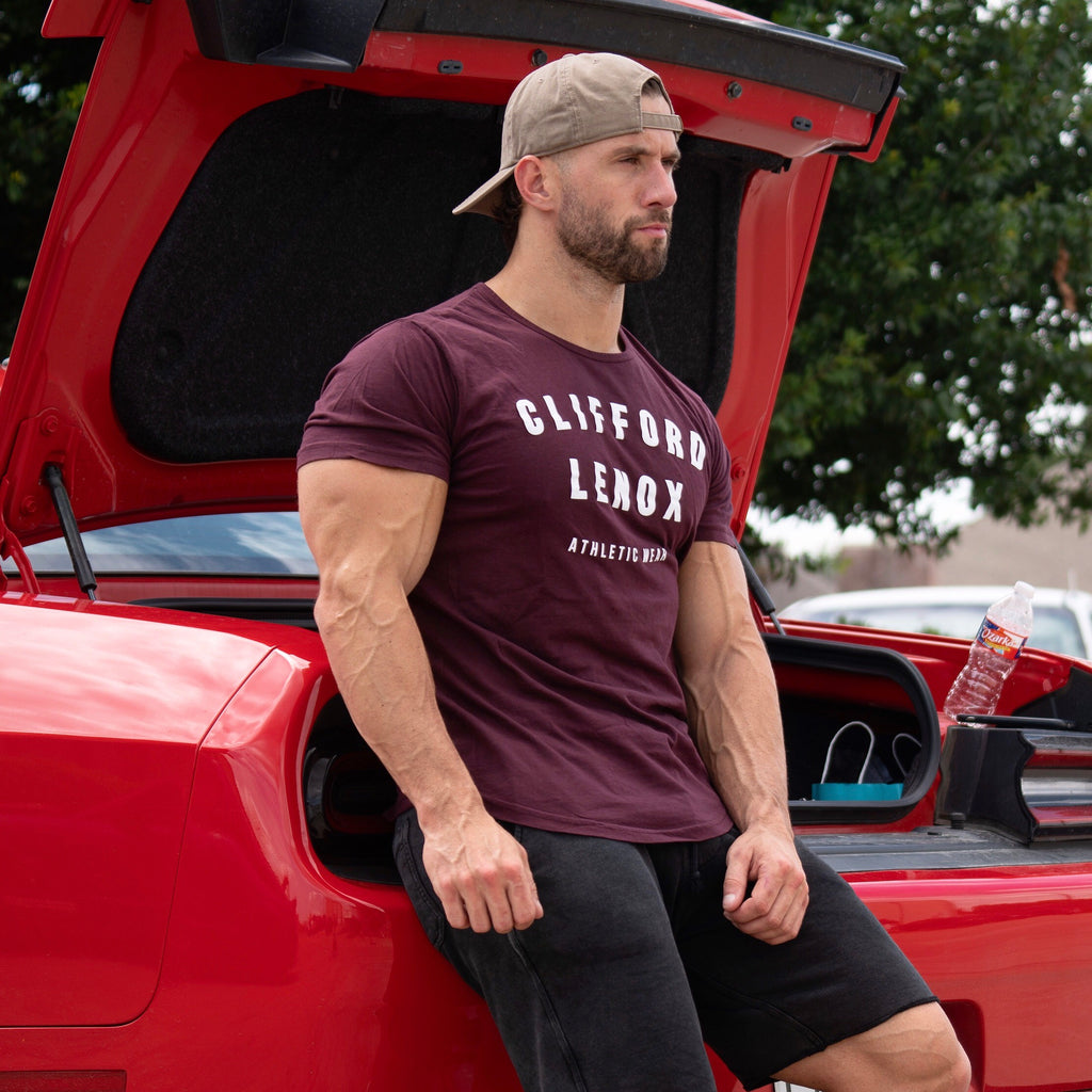Athletic Wear Scallop Tee // Wine