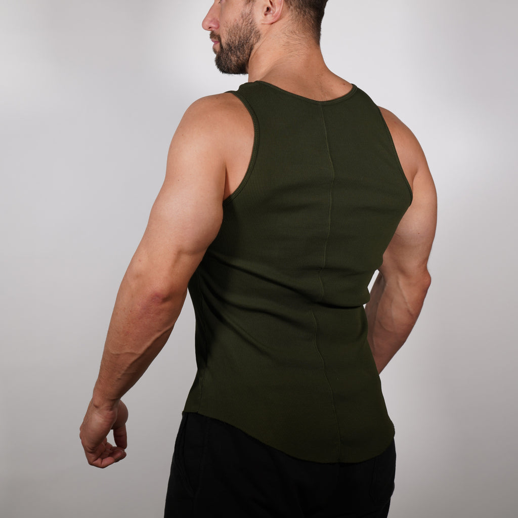 Ribbed Tank Top // Olive