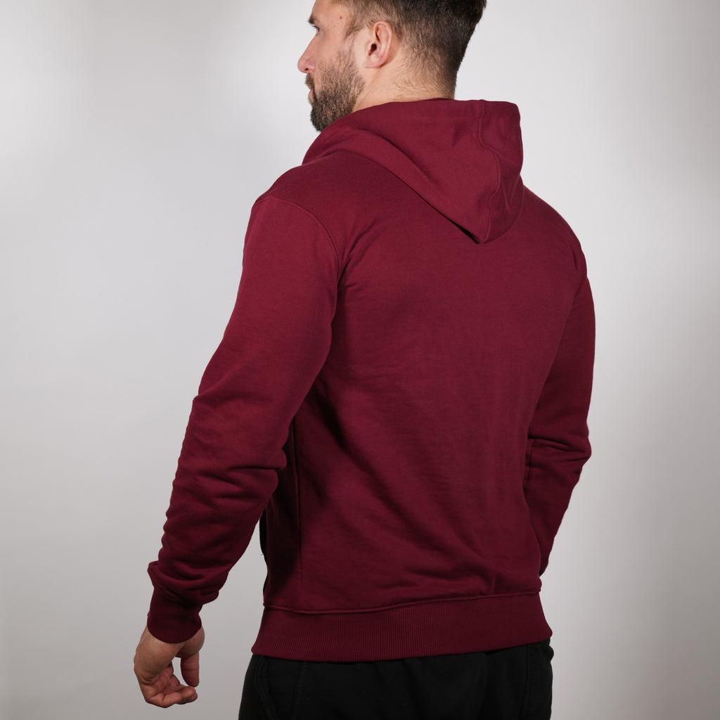Lightweight Zip up Hoodie - Burgundy