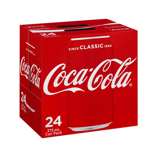 Coca Cola 24pack 375ml Cans