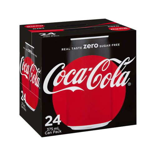 Coca Cola Zero 24pack 375ml Cans
