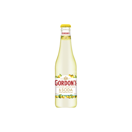 Gordons Sicilian Lemon Gin & Soda 330ml