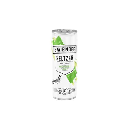 Smirnoff Seltzer Natural Lime 250ml