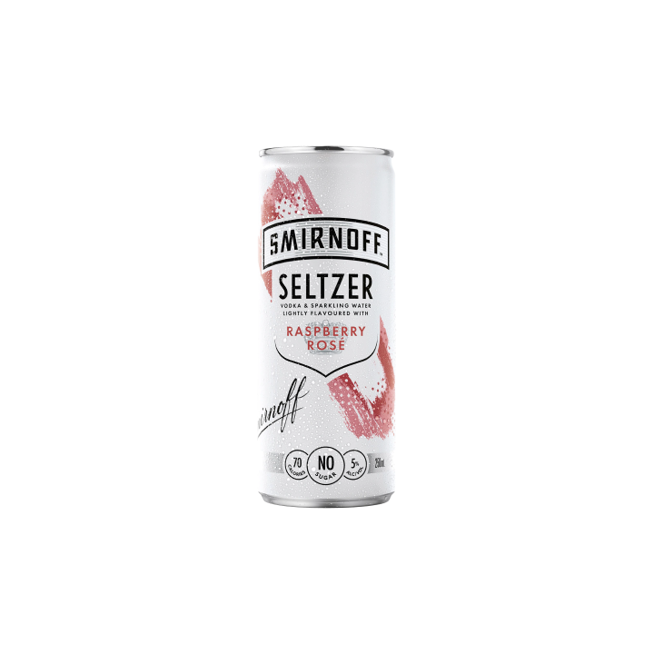 Smirnoff Seltzer Raspberry Rose 250ml
