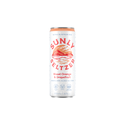 Sunly Seltzer Blood Orange & Grapefruit 300ml