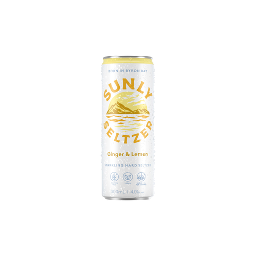 Sunly Seltzer Ginger & Lemon 300ml