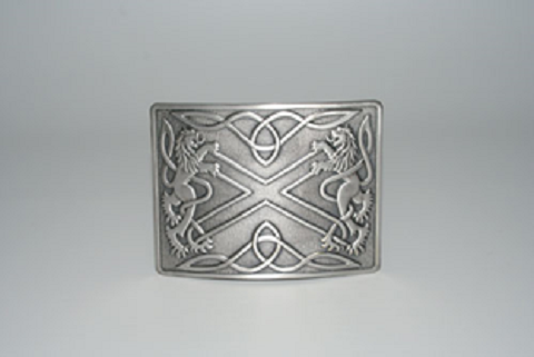Buckle, Highland Saltire, Antique Finish
