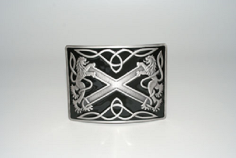 Buckle, Highland Saltire, Black