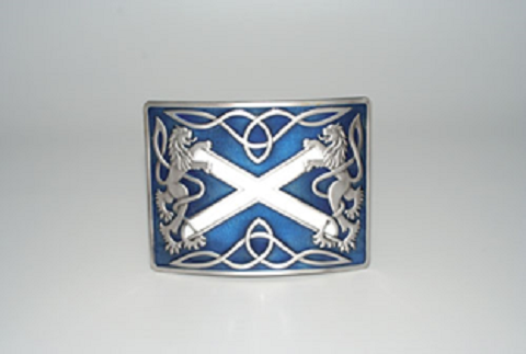 Buckle, Highland Saltire, Blue