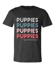 "Load image into Gallery viewer, ""PUPPIES"" T-Shirt"