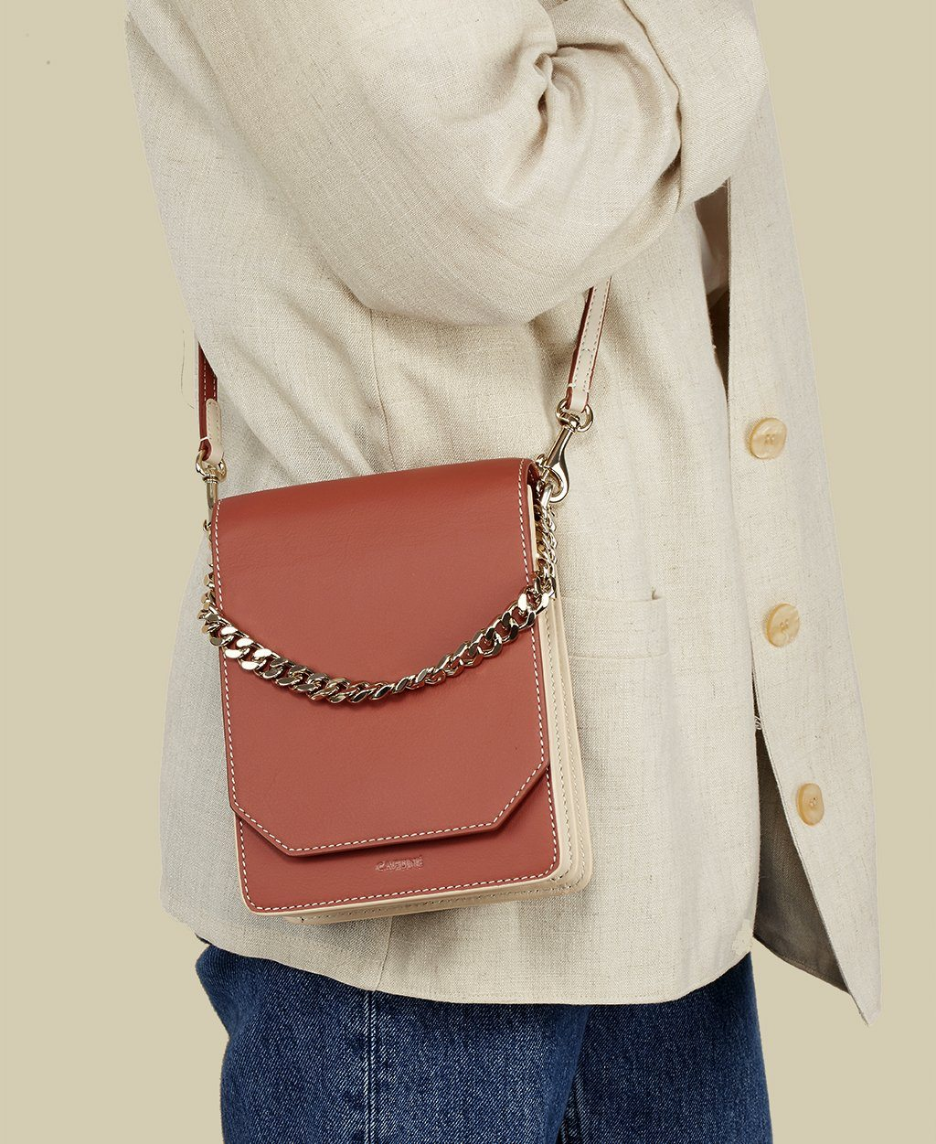 Bellows Crossbody - Brick