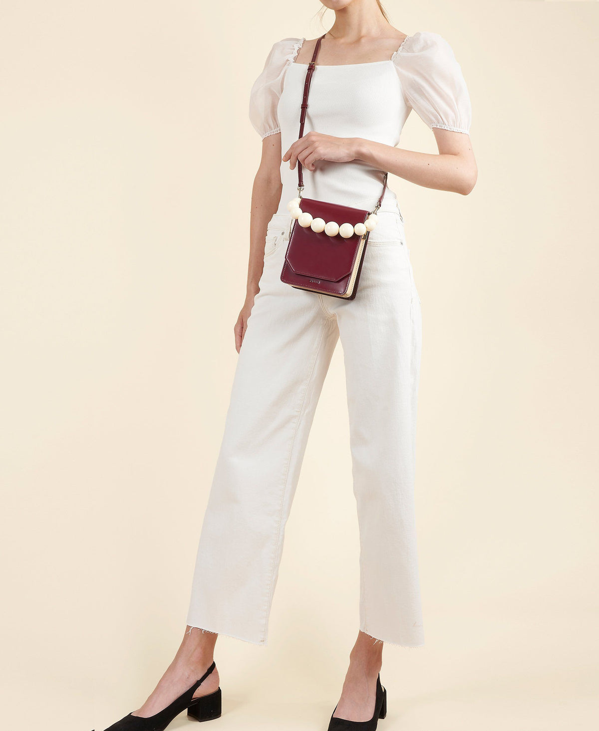 Cafuné Bellows Crossbody in Merlot