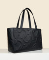 Cafuné C-Lock Tote in Black. Sustainable Leather.