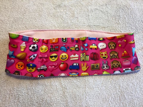 Pink Emoji Pump Band