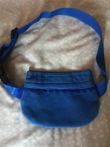 Plain blue pump pouch (school)