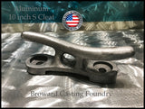 "ALUMINUM ""S"" DOCK CLEATS *FREE SHIPPING* (10"", 12"", 15"", 18"") - Broward Casting"