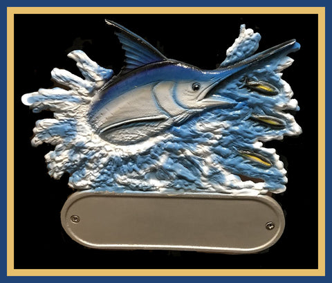 Aluminum Marlin Decorative Address Plaque - Broward Casting