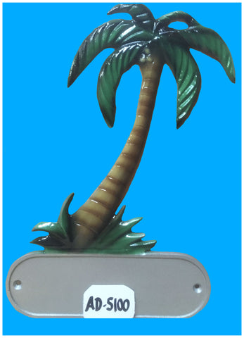 Cast Aluminum Royal Palm Decorative Address Plaque - Broward Casting