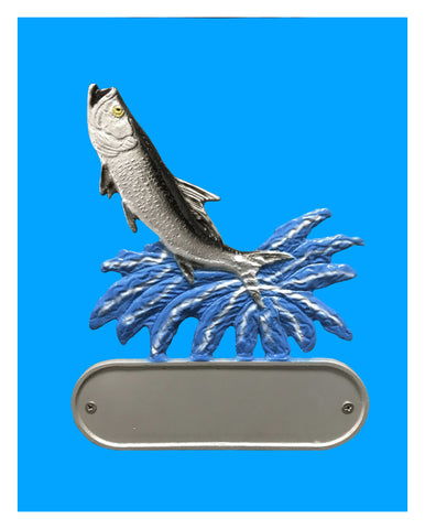 Aluminum Tarpon Decorative Address Plaque - Broward Casting
