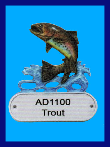 Cast Aluminum Address Plaque Trout by Broward Casting
