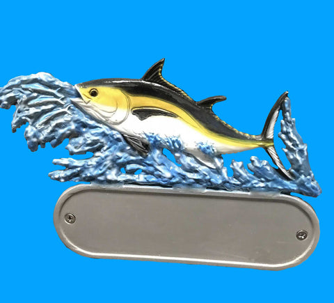 Cast Aluminum Tuna Decorative Address Plaque