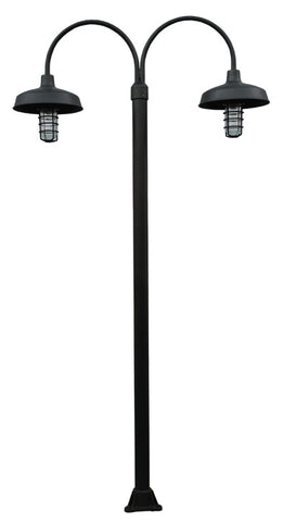 7' 8' 9' or 10' ALUMINUM ROUND POST WITH NEW ENGLAND WHARF DOCK LIGHT - Broward Casting