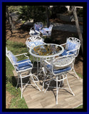Cast Aluminum Coral Series Outdoor Bar Table and Chairs