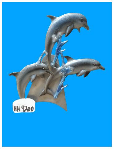 Cast Aluminum 3 Jumping Dolphin Decorative Hose Holder
