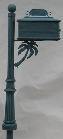 PALM TREE HIGH QUALITY CAST ALUMINUM MAILBOX - Broward Casting