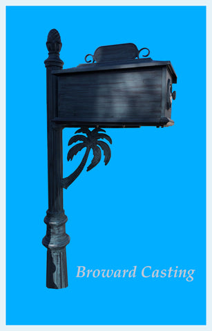 CUSTOM ORDERED/PAINTED PALM TREE HIGH QUALITY CAST ALUMINUM MAILBOX