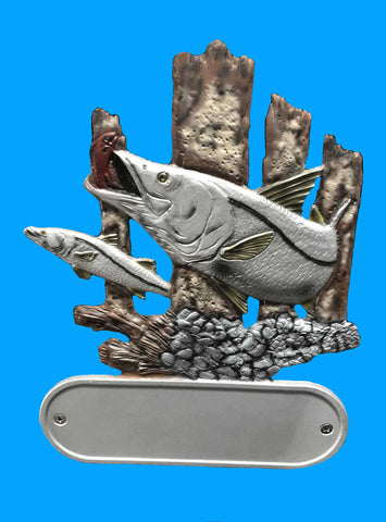 Cast Aluminum Snook Decorative Address Plaque
